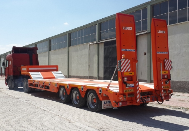 Lider 3 axle lowbed semi trailer